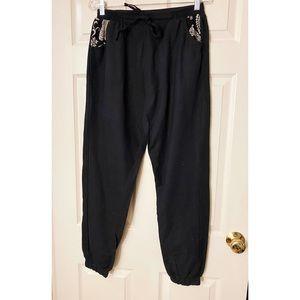 The Elephant Pants Black Cotton Joggers